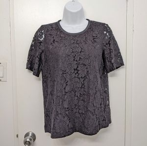 Madewell lace sheer back top size xs